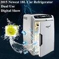 Mais novo 18L Aquecedor Refrigerador Geladeira Carro Frigorífico Carro 12 V Dupla Utilização de Viagem Insulina Geladeira Portátil Para O Carro