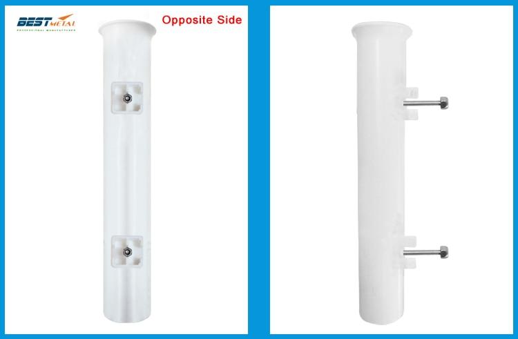 4 Pieces White plastic fishing rod holders racks sockets for boat marine fishing box kayak boat yacht