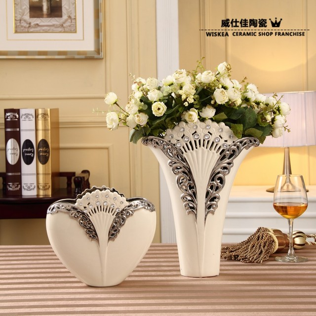 Modern Home Decoration Porcelain Vase For Flower White Ceramic Fashion Family Pack Repair Crafts Decorative Article