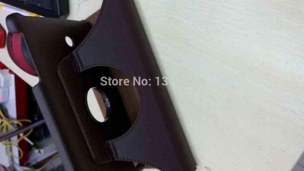 ロータリー 360 度回転ライチフリップスタンド Pu シェルカバー Funda の Capa Coque ケース LG G パッド 8.0 V480 V490 タブレット