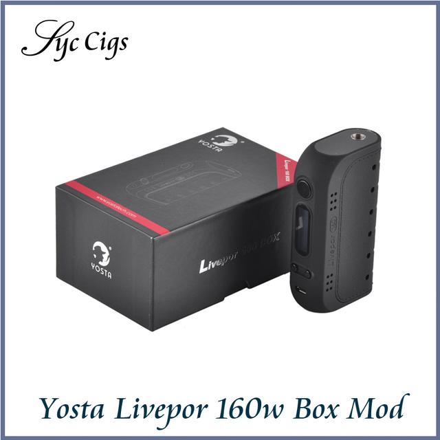 Yosta Livepor 160 W Caja Mod Vape VW/TC Con Bobina Seca Protección Pantalla OLED Cigarrillo Electrónico de Control De Temperatura vaporizador