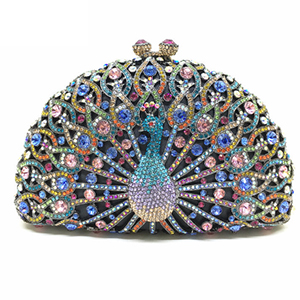 Women Crystal Evening Clutch Bags Diamond Handbags Wedding Party Purse Rhinestones Clutches Luxury Banquet Evening new women diamond wedding bride shoulder crossbody bags gold clutch beaded tassel evening bags party purse banquet handbags li29