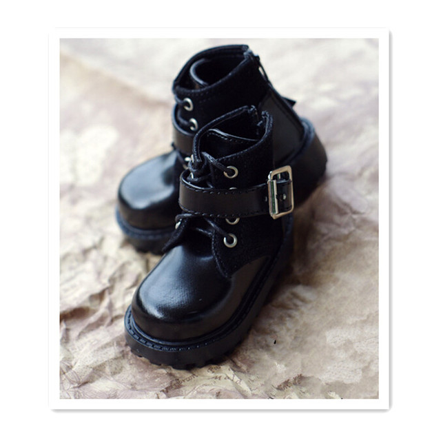 Mini Zapatos Negro Negro Negro Leather Botas Accessories for Dolls,BJD Doll Zapatos df56b8