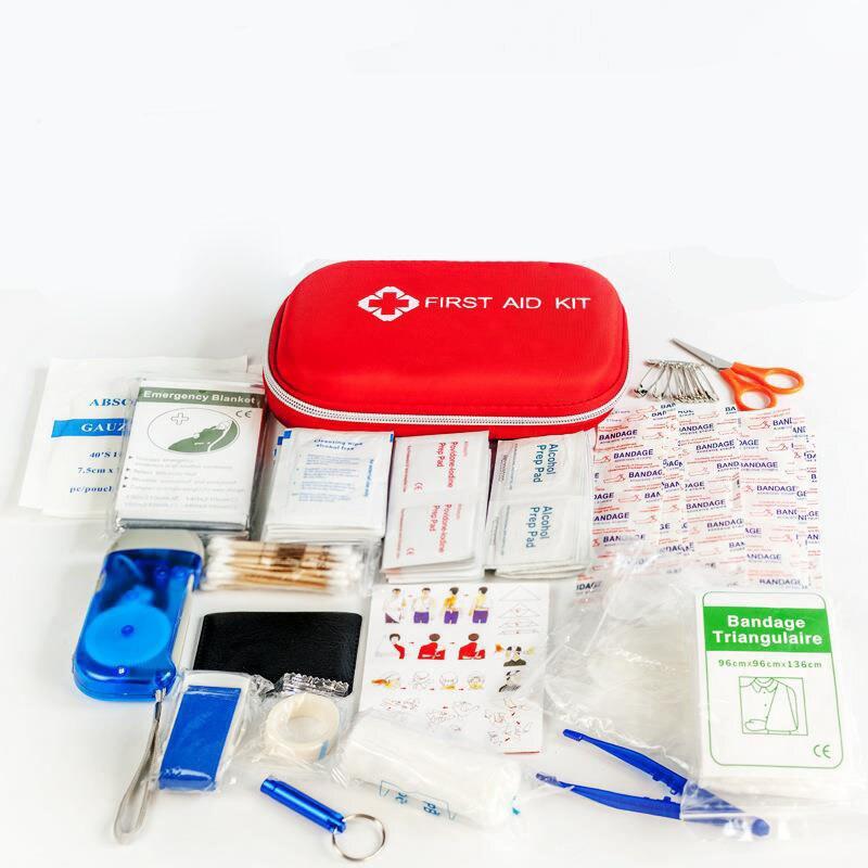 216 pçs/lote de Primeiros Socorros Kit De Emergência Esportes Ao Ar Livre À Prova D' Água Para A Família Camping Viagens YJJB004 Tratamento Médico de Emergência