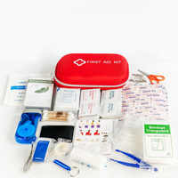 216 unids/lote Kit de primeros auxilios para deportes al aire libre resistente al agua para acampar en familia tratamiento médico de emergencia de viaje YJJB004
