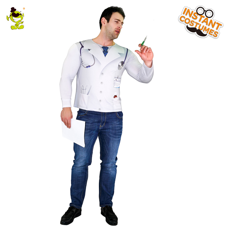 Popular Men's 3D Digital Printing T-Shirt Hospital Doctor Role Play  Cute&Funny Clothes For Party  Masquerade Costumes