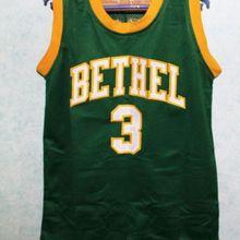 43d5bd510d9a  3 ALLEN IVERSON BETHEL HIGH SCHOOL Throwback Basketball Jersey Embroidery  Stitched XXS-XXL(