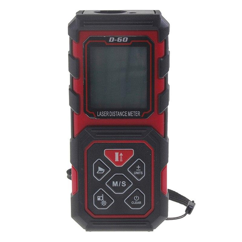 40M RED+Black top Design Handheld Rangefinder Laser Distance Meter Digital Range Finder Laser Tape Measure Tester kaman mk 60 1 8 lcd handheld laser distance meter rangefinder black red multi colored