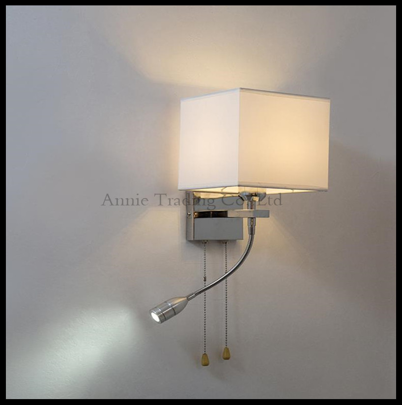Creative modern minimalist living room bedroom hallway stairs hotel balcony hose wall lamp LED bedside pull chain switch sconces creative bedside wall lamp modern minimalist rectangular corridor balcony living room bedroom background lighting fixture