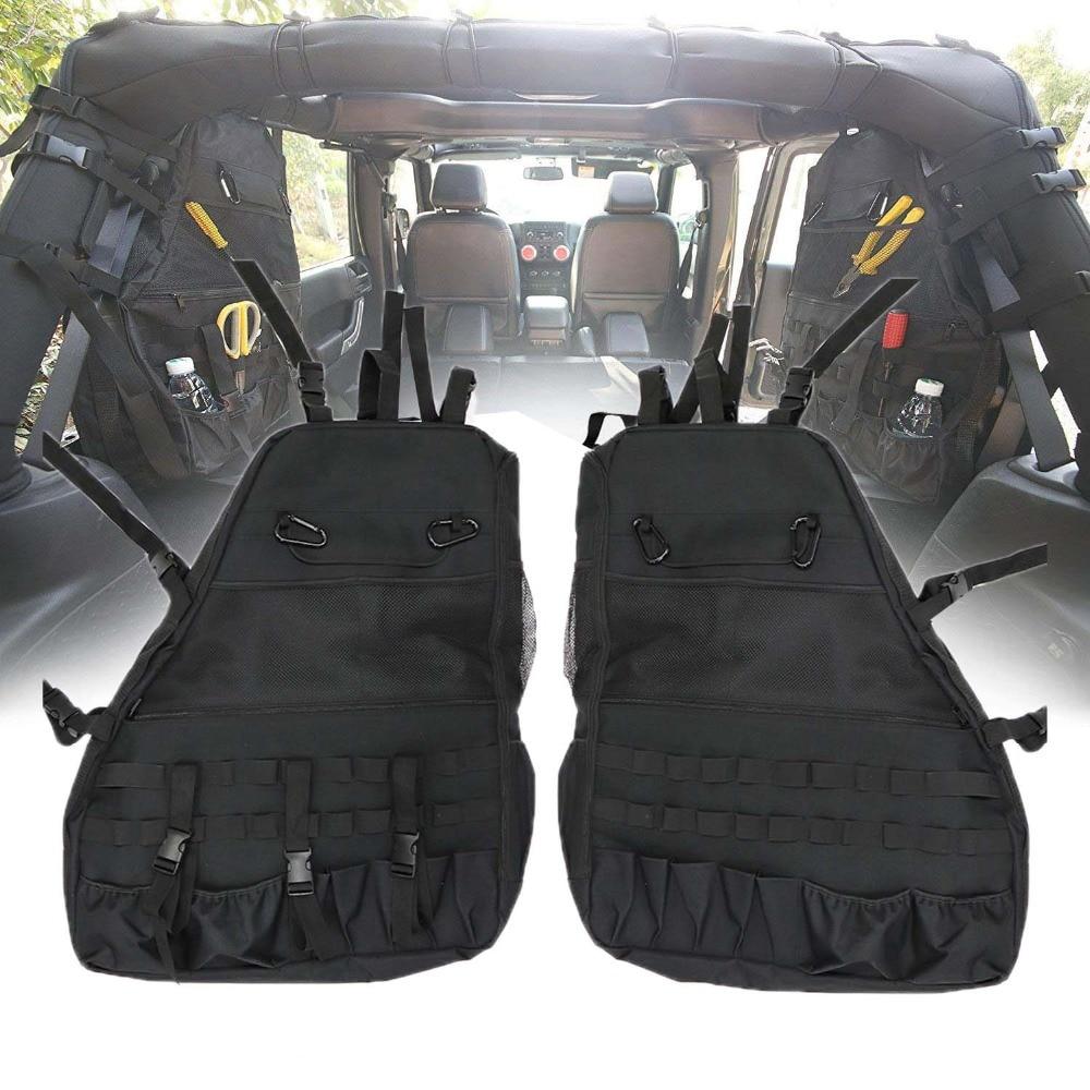 Organizer Trunk Bag Anti Roll Storage Roll Bar Luggage Tool Kit Multifunctional Door Side Gadget Holder for Jeep Wrangler 07 17