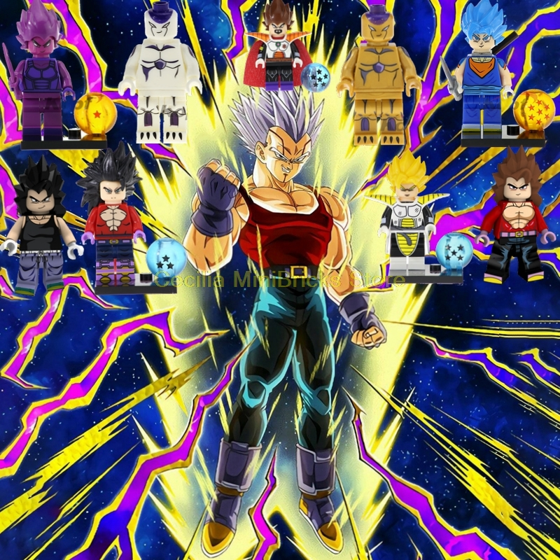 """8pcs Japanese Anime Dragon Ball Printed Poster 17/""""x11/"""" Picture May Vary"""