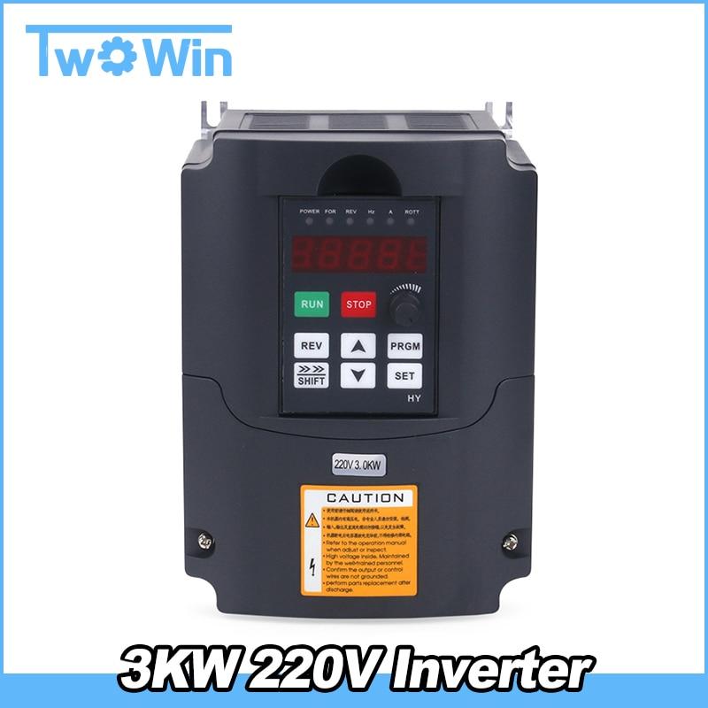 3KW 220V AC Variable Frequency Drive VFD Inverter for 3 0KW spindle 3000W vfd 3KW Inverter