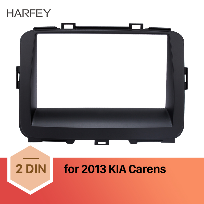 Harfey Perfect Double Din Car Radio Fascia Audio Cover Dash Mount for Ford 2014 2015 Transit Trim Panel Installation Kit Panel