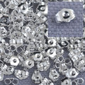 JEXXI Bulk 1000PCS Genuine Fine 925 Sterling Silver Jewelry Findings Back Stopper For Stud Pin Jewelry Settings 925 Stamped LOGO