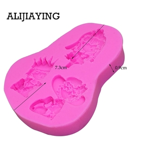 Image 5 - M0119 Girl princess bride cake decorating tools Liquid 3D Silicone Mold DIY baking accessories