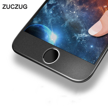 Фотография ZUCZUG Premium Screen Protector Tempered Glass For iPhone 8 7 6 6s Plus 3D Frosted Soft Edge Full Cover Glass Film For iPhone8