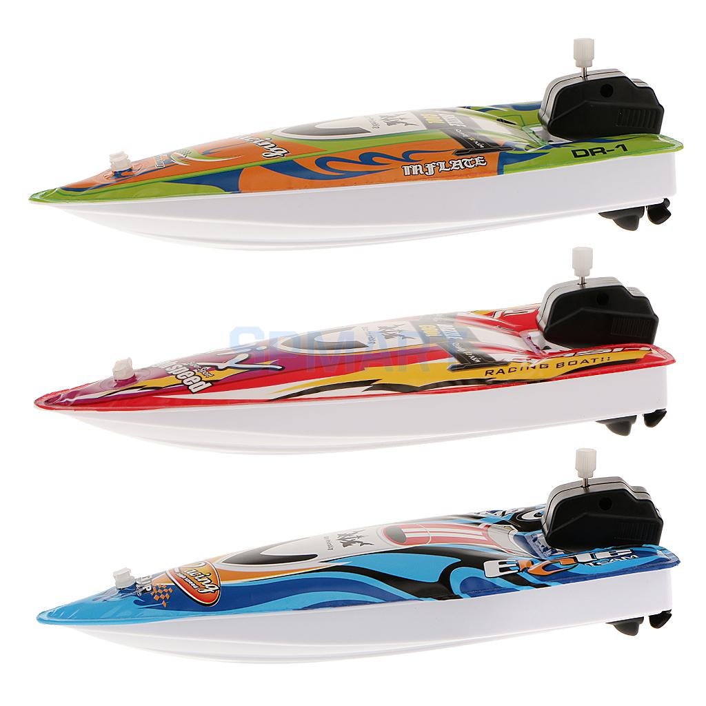 Kids Children Inflatable Wind Up Speedboat Boat Pool Bath Toy Party Bag Filler