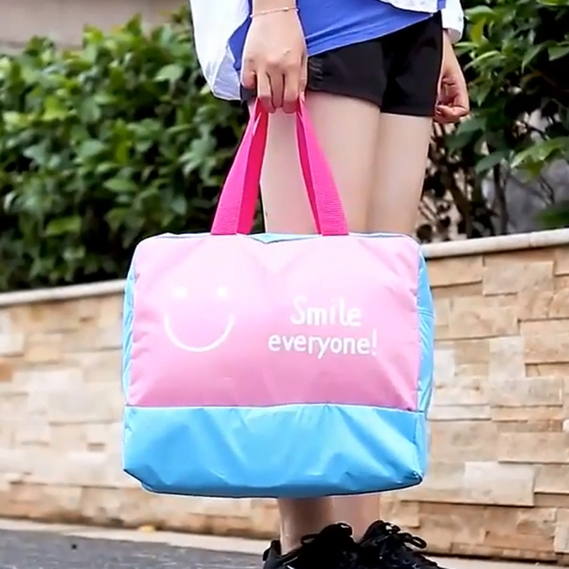 Beach Tote Bags Waterproof With Dry Wet Separation Area Shoes Compartment Workout Gym Bag Swimming Surfing Bathingtravelling Bag