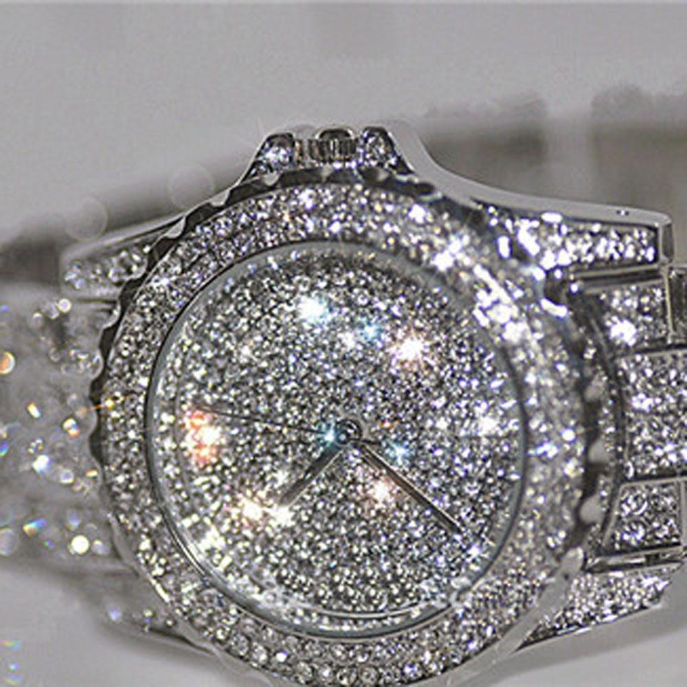 2020 New Arrival Luksusowe zegarki damskie Rhinestone Kryształowy - Zegarki damskie - Zdjęcie 3
