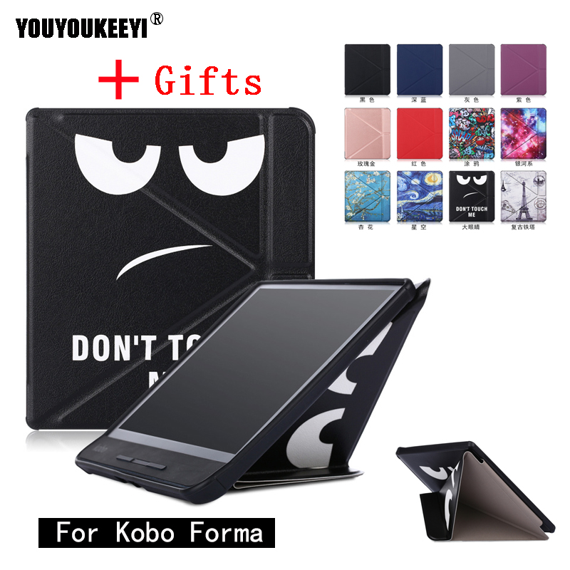 Standing cover case for Kobo Forma 8 inch ebook reader magnetic auto wake sleep smart cover Stylus pen as gift in Tablets e Books Case from Computer Office