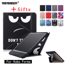 Standing cover case for Kobo Forma 8 inch ebook reader magnetic auto wake sleep smart cover+ Stylus pen as gift цена и фото