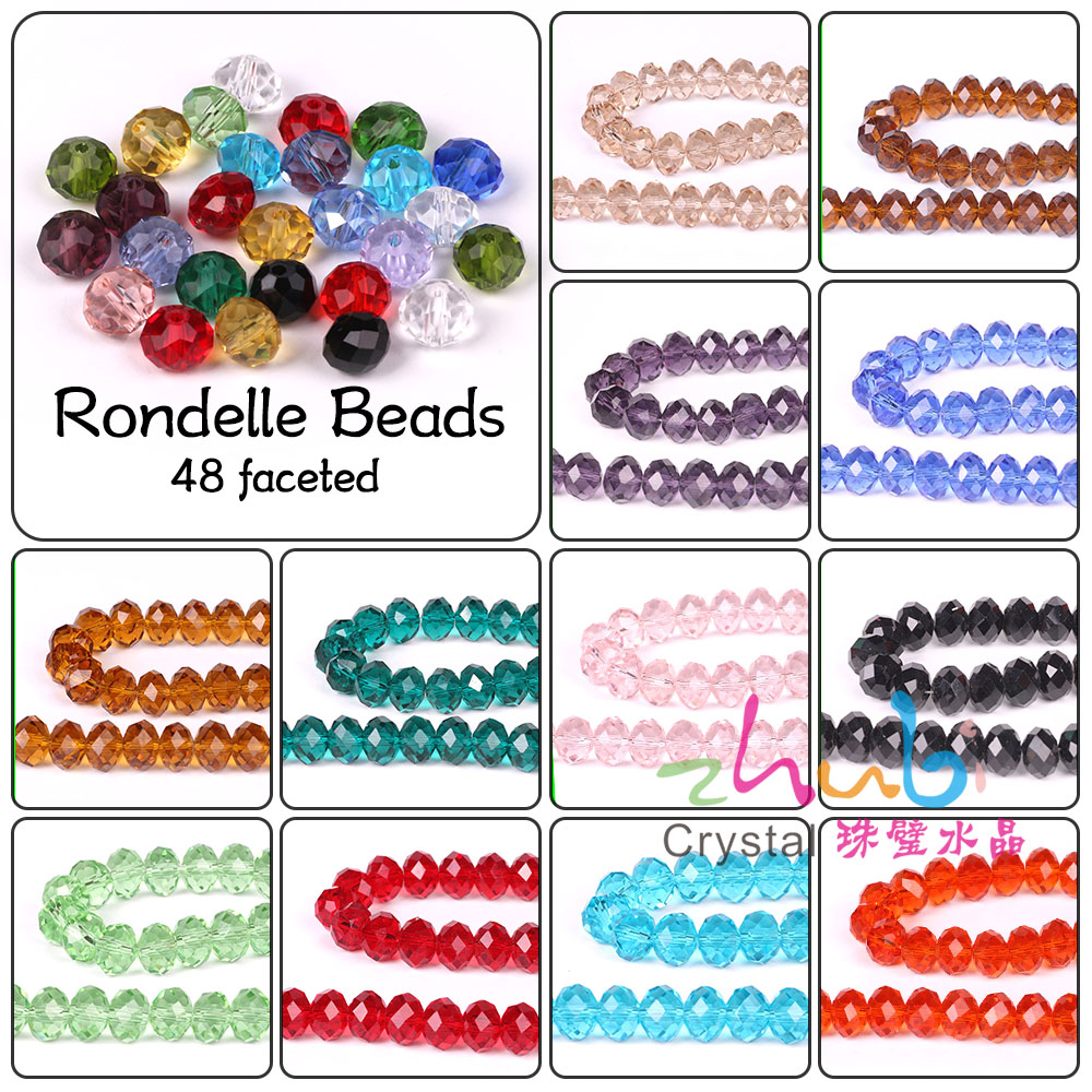 Craft beads in bulk - Crystal Rondelle Beads 2 3 4 6 8 10 12mm Mixed Loose Glass Faceted Miyuki Beads