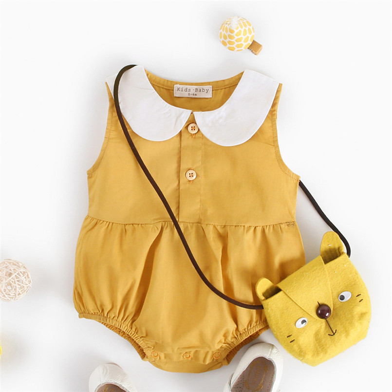 2018 Hot Sale baby rompers Newborn Infant Baby Boy Girls Summer Print Rompers Outfits Clothes roupa maillot de bain fille S