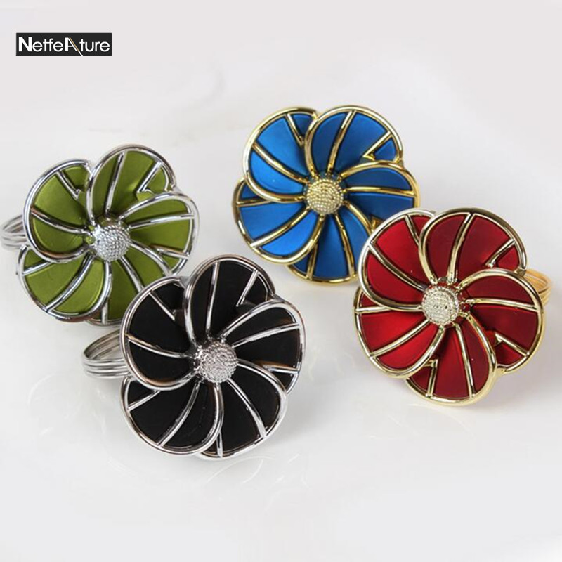 Free Shipping 6pcs Plastic Metal Napkin Rings Holder Hotel Sample Room Wedding Supplies European Style Home Decoration In From