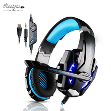 3.5mm Gaming Headset Game headphone with microphone and led for computer or mobile phone