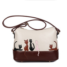 2016 High Quality PU Leather Shoulder Bag Women Crossbody Bags cat Bolsas Femininas Casual Handbag Women Vintage Messenger Bags