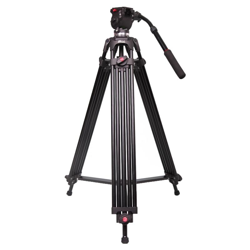 JY0508B JIEYANG Camcorder Professional Tripod for Video Camera Stand DSLR Heavy Video Tripod Fluid Head 55