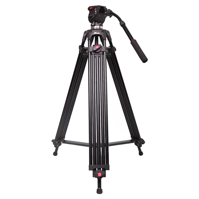 JIEYANG JY0508B Filmadora Tripé Profissional para Câmera De Vídeo Suporte/DSLR Pesado Tripé De Vídeo/Fluid Cabeça/55.5 polegada altura máxima