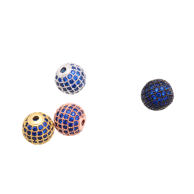Magic Fish Diy Ball Beads For Charms Bracelets Men&women Copper Blue Zircon Crystal Jewelry Acessorios Wholesale Pearl Kralen Jewelry & Accessories Beads