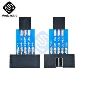 2 шт. 10Pin для 6PiN конвертировать в Стандартный 10 контактов-6 контактов) плата адаптера для устройств Wi-Fi ATMEL STK500 AVRISP USBASP ISP Интерфейс конвертер AVR