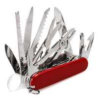 Folding Swiss Pocket Multi Tool Knife Army Suvival Outdoor Camping Multifunction Tool Stainless Steel Pocket Size