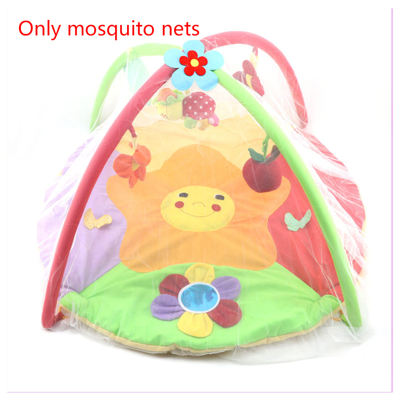 Baby Gym Activity Playmat Mosquito Net Newborn Baby Game Blanket Toys Bracket Special Mosquito Net Play Cot Crib Netting