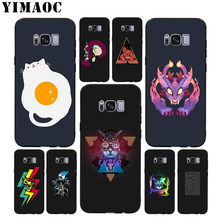 YIMAOC Amazing Cat Soft Case for Samsung Galaxy S10 S10e S9 S8 A6 Plus S7 S6 Edge A7 A5 A3 J6 Note 9 8(China)