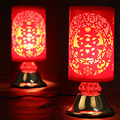 Red Chinese Table Lamps Fabric Lampshade  Room/Living Room Lighting Desk Lights Wedding Gift