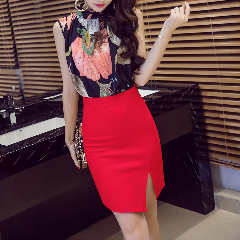 2020 New Women Formal Work Wear Skirts Ladies Sexy High Waist Pencil Skirt 3 Colors Stretch Package Hip Fashion Skirt