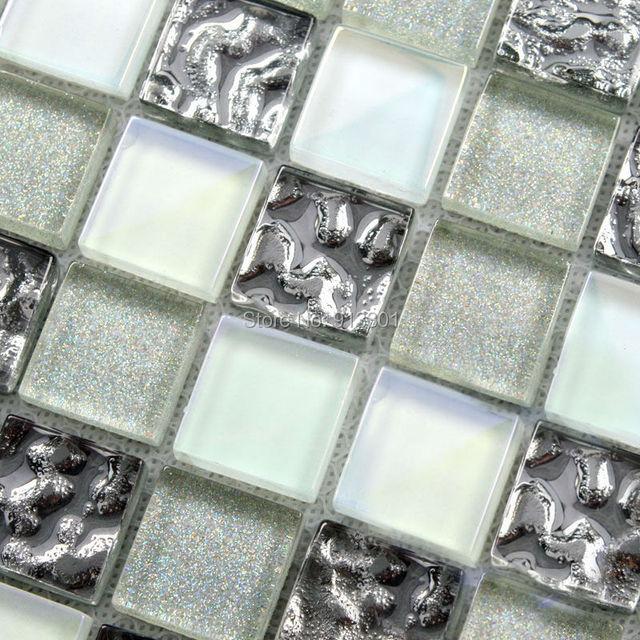 Aliexpress com Buy glass mosaic tile backsplash cheap crystal. Buy Bathroom Tiles