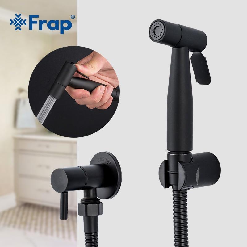 Frap Black Bidet Toilet Sprayer Hygienic Shower Tap Bidets Bathroom Hand Shower Wall Mount Faucet Bathroom Accessories Y50057