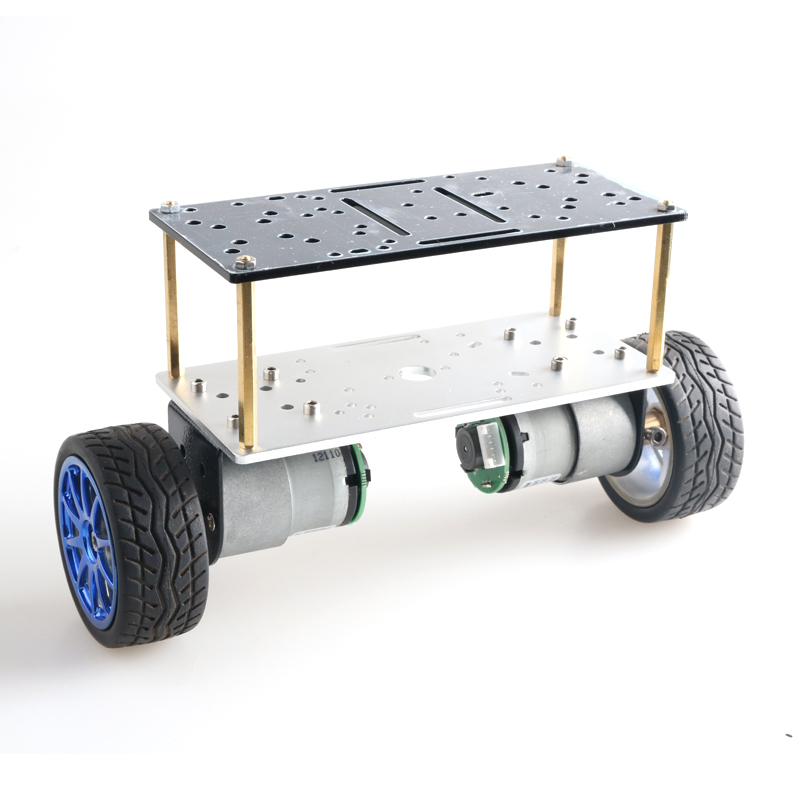 Double Plate 2wd Two Rounds Of Self-balancing DC 12V Motor Car Two-wheel Balancing Car Smart Car Chassis Kit