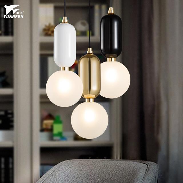 Splendid Led Glass Ball Pendant Lamps Ball Glass Cover Single Head Pendant Lighting For Bedroom