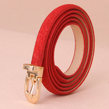Women Real Leather Metal Buckle Thin Waistbands Solid Elegant Hot Sale High Quality Pigskin Female A