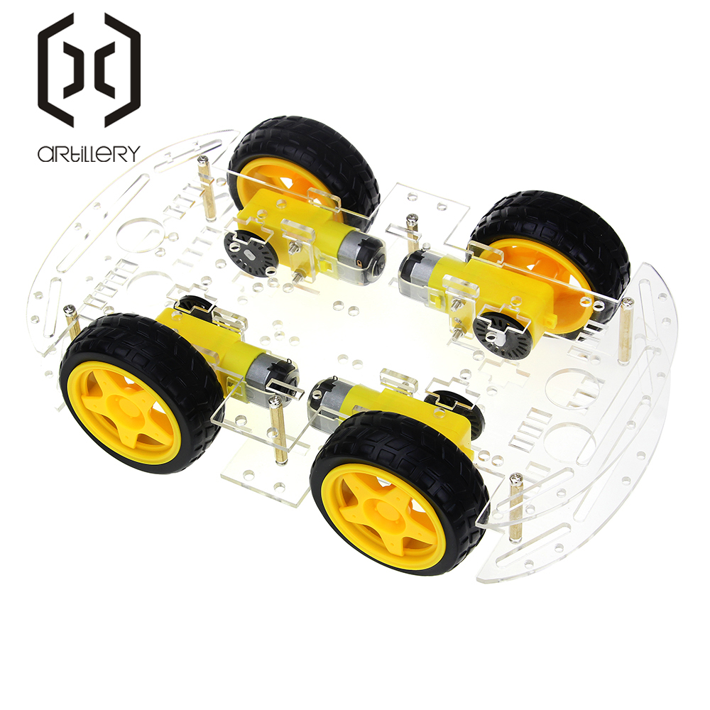 Image 5 - 4WD Smart Robot Car Chassis Kits with Speed Encoder New Smart Car Chassis-in Integrated Circuits from Electronic Components & Supplies