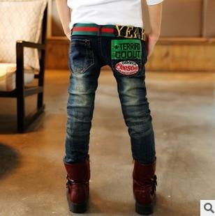 2016 ropa de Los Niños chicos pantalones vaqueros de invierno thicknees warm Soft buena calidad precio bajo niños jeans B091