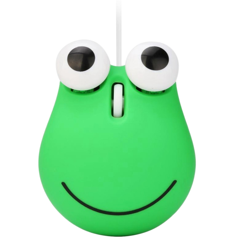 1200 Dpi Wired Optical Gaming Mouse Cute Animal Frog Mouse Usb For Pc Laptop Game Console Cyan Plastic