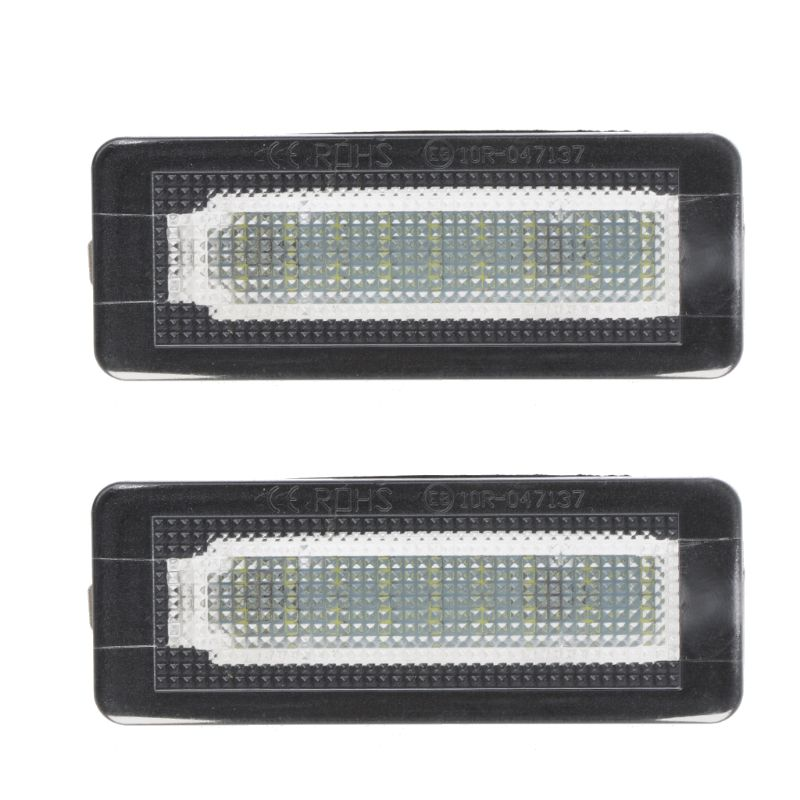 2x <font><b>18</b></font> <font><b>SMD</b></font> LED License Plate Number Light Lamp Error Free For Benz Smart Fortwo Coupe Convertible 450 451 W450 W453 image