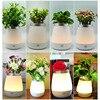 Flowers Vase Lamp USB LED Atmosphere Light Novelty Bedside Night Lights Table Desk Lamp Gifts Christmas