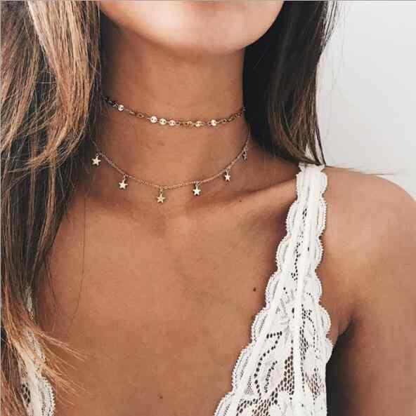 Tenande bohème pierre naturelle perles coeurs oiseaux feuilles chaîne colliers et pendentifs pour femmes Vintage Multi couche Bijoux Bijoux